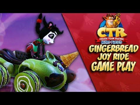 Crash Team Racing: GINGERBREAD JOYRIDE GAME PLAY REVEAL + Analysis