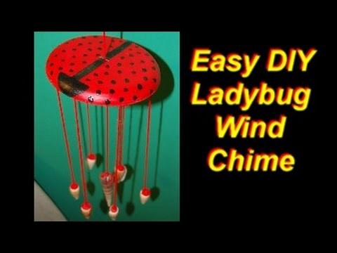 Easy DIY Ladybug Wind Chime