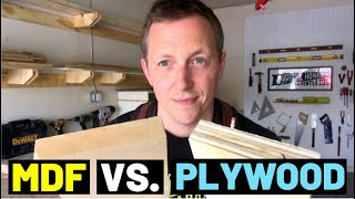 MDF VS. PLYWOOD (Which Is Better?? Pros + Cons!!)