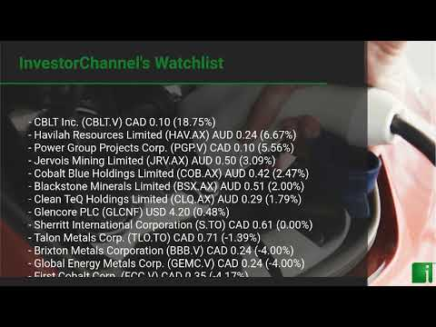 InvestorChannel's Cobalt Watchlist Update for Wednesday, M ... Thumbnail