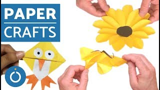 Paper Crafts - Easy Bird and Flower