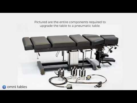 Omni Total Drop Stationary Chiropractic Table to Elevation to Air-Drop Elevation Table