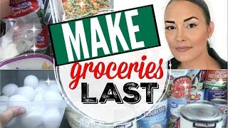 🤑SAVE MONEY!!! ● 7 WAYS TO MAKE YOUR GROCERIES LAST LONGER ● TIPS FOR HOW TO MAKE YOUR FOOD LAST