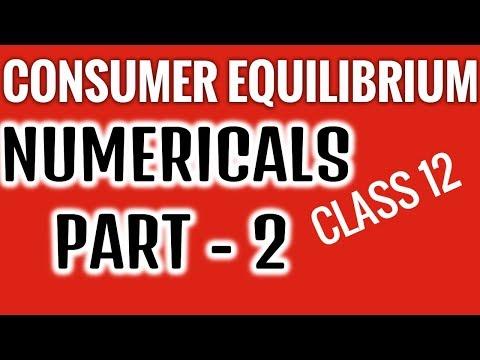 Numericals -ConsumerEquilibrium- PART II