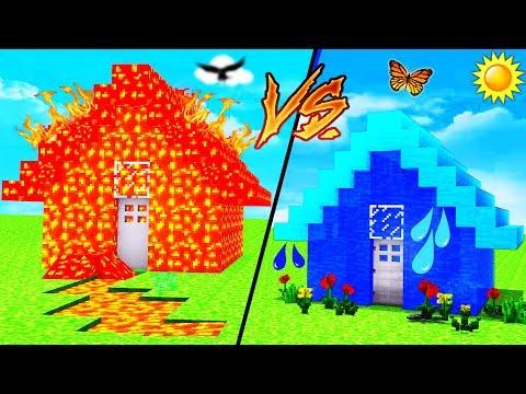 Minecraft - WATER HOUSE VS LAVA HOUSE