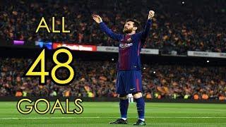 Lionel Messi ● All 48 Goals in 2017/18 ● Golden Boot Winner