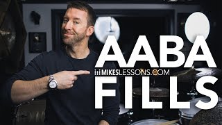 DRUM LESSON   AABA Fills