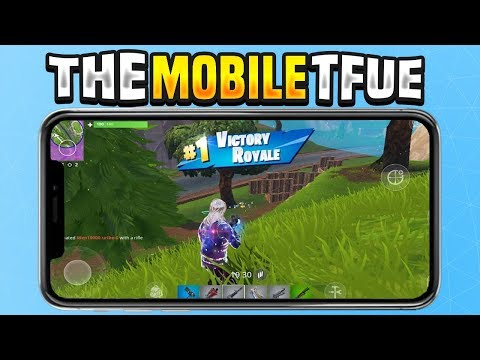 NUMBER 1 BEST FORTNITE MOBILE PLAYER IN THE WORLD!! THE MOBILE TFUE! - Fortnite Mobile Build fights!