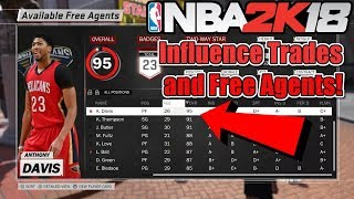 NBA 2K18 My CAREER - How to Influence Trades and Free Agents in MyCAREER! How It Works