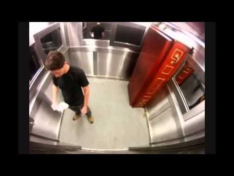 Scary Coffin In Elevator Prank   Creepy so funny