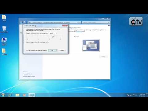 Windows 7 How To: Increase or Decrease your Font Size
