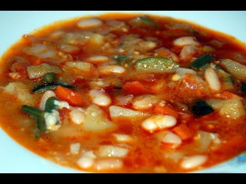 Sopa de verduras y judías blancas, al estilo de Mariaje