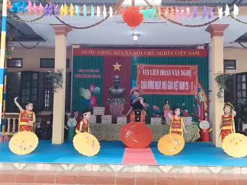 Văn nghệ KG Chào mừng ngày nhà gái Việt nam 20/11: Bài  Em đến trường mầm non - Lớp 4 - 5 tuổi A