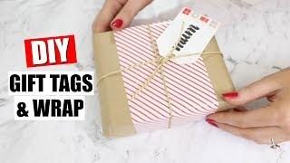DIY CHEAP & EASY CHRISTMAS GIFT TAGS & GIFT WRAP | 25 DIYs Of Christmas Day 8