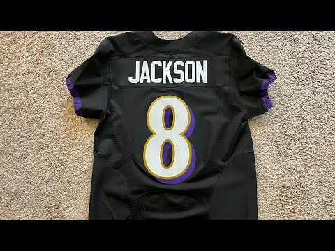 Authentic Lamar Jackson & Marquise Brown Ravens Nike Speed Machine Elite Jerseys