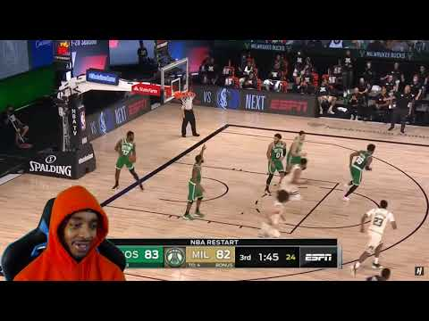 FlightReacts Boston Celtics vs Milwaukee Bucks – Full Game Highlights | July 31, 2020!