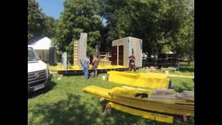Így épült a BETON pavilon a SZIGETen