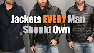 The ONLY 3 Jackets A Guy Needs In His Wardrobe! (Mens Style Essentials)