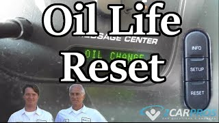 Oil Life Reset Ford Explorer 2002-2005