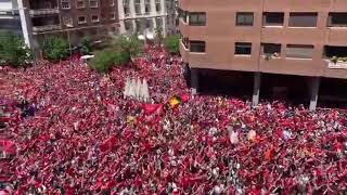 """Liverpool Fans Sing """"You'll Never Walk Alone"""" In Madrid"""