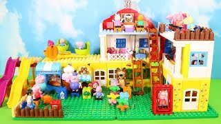 Peppa Pig Legos House Construction Sets - Lego Duplo House Creations Toys For Kids #5