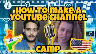 How to make a YouTube Channel 📺 🎬 🎥 - Camp - English Conversation with @ENGLISH- FINGLISH