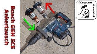 Bosch GSH 5 CE Reparatur   Anker austauschen   Bosch reparieren   Kohlebürsten wechseln   DIY