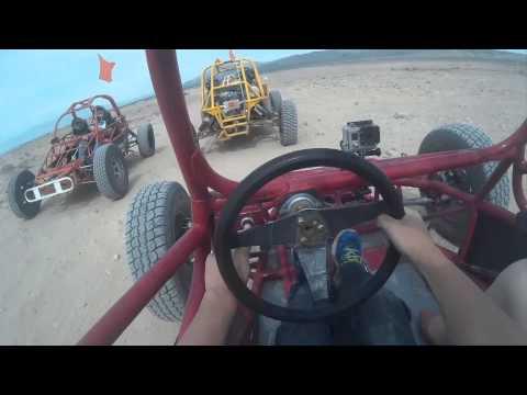 Sun Buggy Baja Chase Las Vegas 30min tour in 6min inc lost wheel!