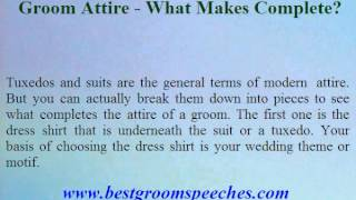 Groom Attire - What Makes Complete