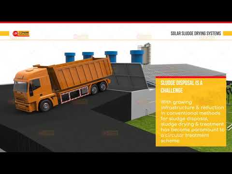 Sludge Drying Animation Video