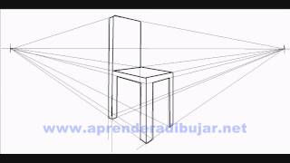 preview picture of video 'How to draw a chair in perspective - Things to Draw'