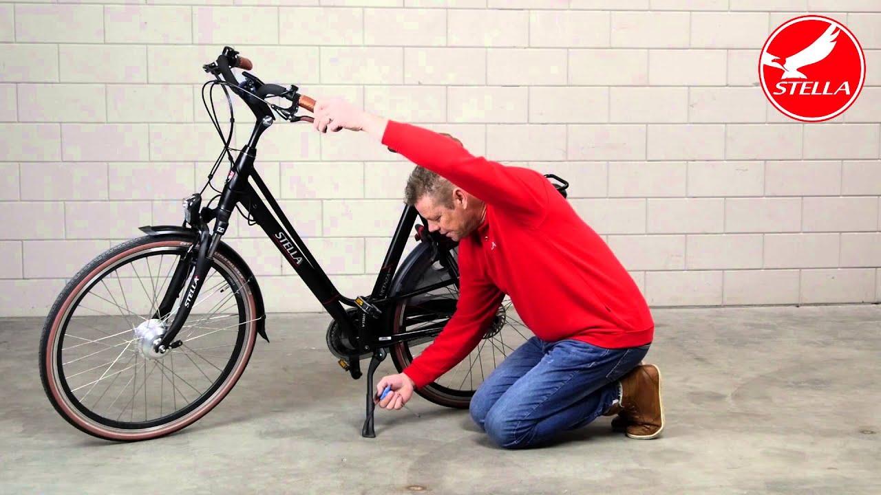 Standaard afstellen elektrische fiets
