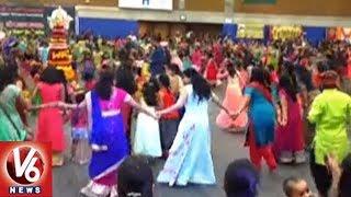 Bathukamma Festival Celebrations Grandly Held In New Jersey | V6 USA NRI News