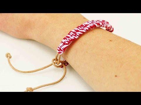 Einfaches Freundschaftsband   Zuckerstrangen Armband   Geschenk für die beste Freundin   DIY