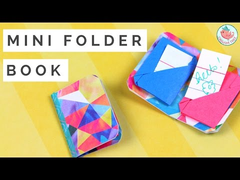 Mini Origami Book - How to Make a Mini Origami Folder Book that Holds Notes!