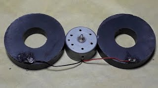 How To Make Free Energy Generator With Magnet & DC Motor,  NEW IDEA -2018