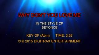 Beyonce - Why Don't You Love Me (Backing Track)