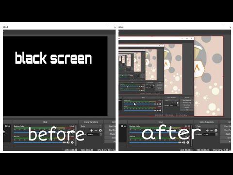 Wynik obrazu dla zaciemnionego czarnego ekranu OBS Studio