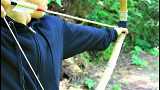 How To Build A Bamboo Bow DIY BOW