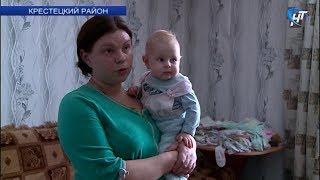 Многодетная семья из Крестец с 2017 года живет без электричества