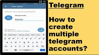 How to create multiple telegram account?