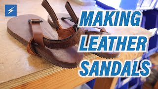 How To Make Leather Sandals - TK Makes Super Goats