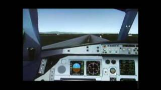 preview picture of video 'FS2004 A330-200 CSN TAKE OFF&LANDING'