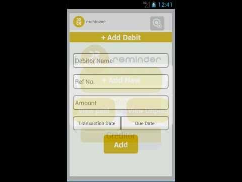 Video of Debit and Credit Reminder