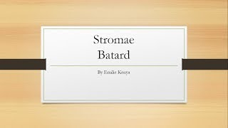 Stromae Batard paroles