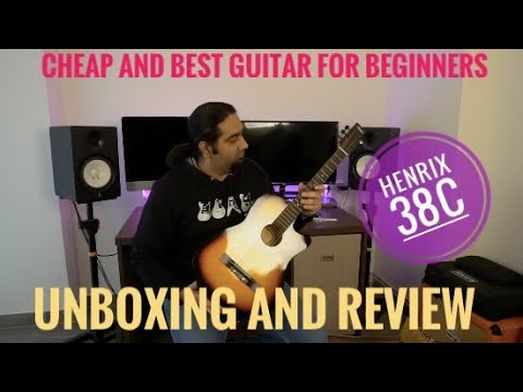 Cheap And Best Acoustic Guitar For Beginners | Henrix 38c Unboxing & Review
