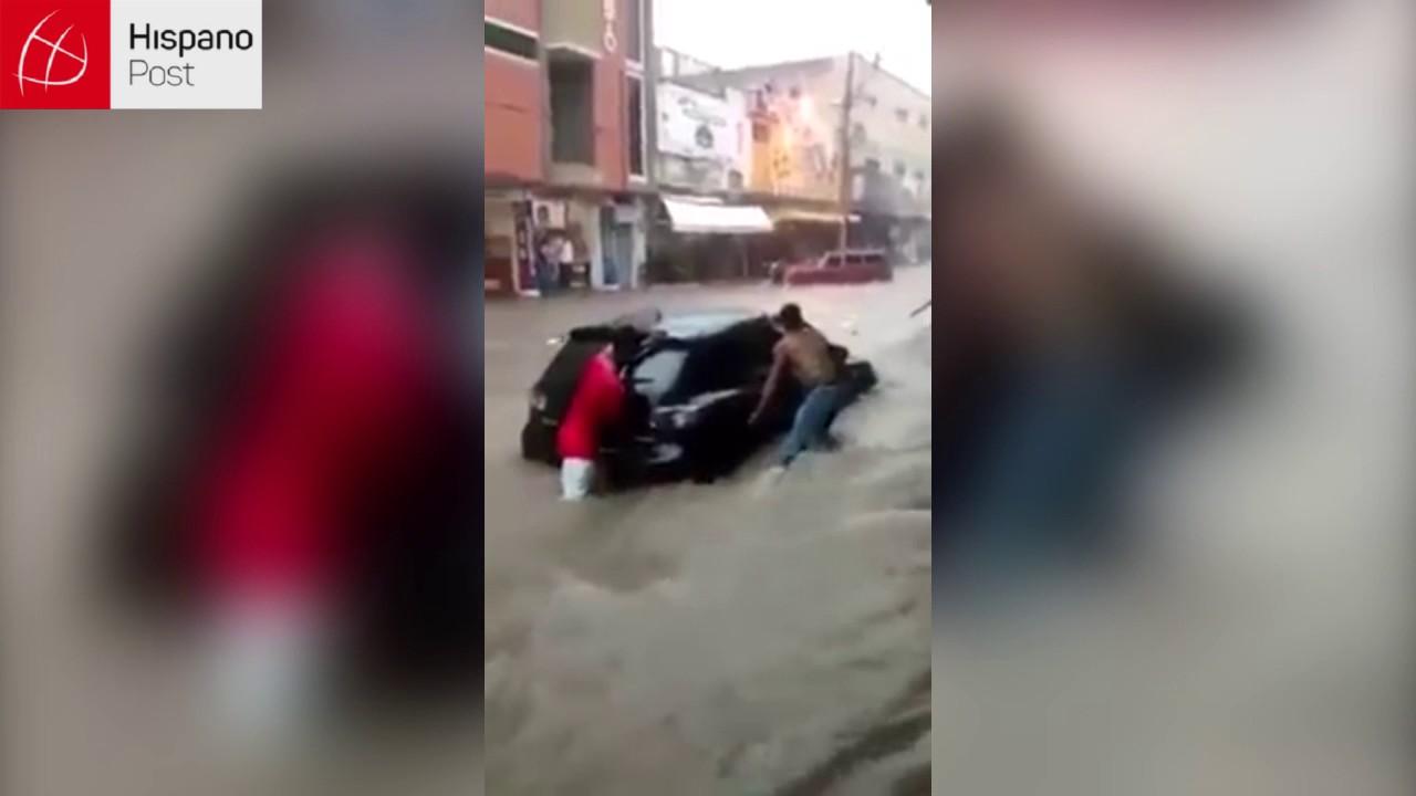 Huracán Matthew transformó las calles de Maicao en ríos