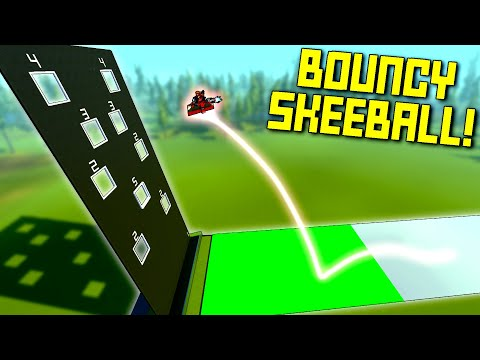 """Playing """"SkeeBall"""" With Rocket-Powered Bouncy Sleds on Ice? - Scrap Mechanic Multiplayer Monday"""
