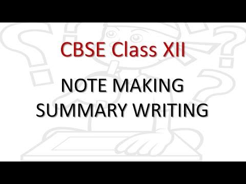 Free Video | CBSE Class 12 English Core Reading Note Making