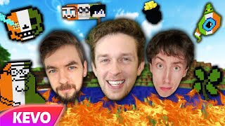 Three Irish Youtubers destroying Irish culture in Minecraft